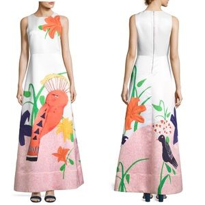 Alice + Olivia Honey Sleeveless Printed Gown
